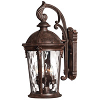 Hinkley Lighting Windsor 1 Light LED Outdoor Wall in River Rock 1898RK-LED