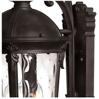 Hinkley 1899BK Windsor 4 Light 26 inch Black Outdoor Wall Mount in Incandescent, Clear Water Glass alternative photo thumbnail