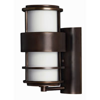 Hinkley Lighting Saturn 1 Light Outdoor Wall Lantern in Metro Bronze 1900MT-EST photo thumbnail