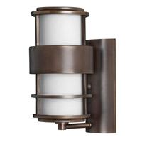 Hinkley Lighting Saturn 1 Light GU24 CFL Outdoor Wall in Metro Bronze 1900MT-GU24