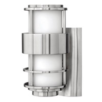Hinkley 1900SS-GU24 Saturn 1 Light 12 inch Stainless Steel Outdoor Wall in Etched Opal, GU24, Etched Opal Glass