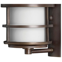 Hinkley 1900MT Saturn 1 Light 12 inch Metro Bronze Outdoor Wall Mount in Etched Opal, Incandescent alternative photo thumbnail