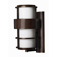 Hinkley Lighting Saturn 1 Light Outdoor Wall Lantern in Metro Bronze 1904MT-EST photo thumbnail
