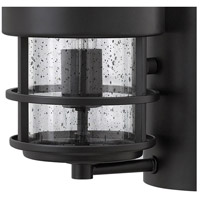 Hinkley 1904SK Saturn 1 Light 16 inch Satin Black Outdoor Wall Mount in Incandescent, Clear Seedy Glass alternative photo thumbnail