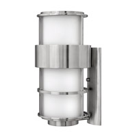 Hinkley 1905SS-GU24 Saturn 1 Light 20 inch Stainless Steel Outdoor Wall in Etched Opal, GU24, Etched Opal Glass photo thumbnail
