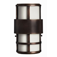 Hinkley Lighting Saturn 2 Light Outdoor Wall Lantern in Metro Bronze 1908MT-EST photo thumbnail
