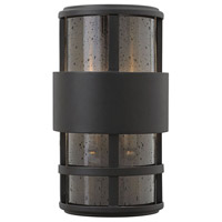 Hinkley Lighting Saturn 2 Light Outdoor Wall Lantern in Satin Black with Clear Seedy Glass 1908SK