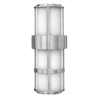 Hinkley 1909SS-GU24 Saturn 1 Light 21 inch Stainless Steel Outdoor Wall in Etched Opal, GU24