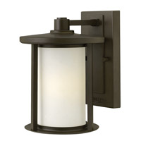 Hudson 1 Light 10 inch Oil Rubbed Bronze Outdoor Wall Lantern in LED, Etched Opal Glass