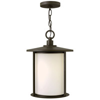 Hinkley 1912OZ Hudson 1 Light 11 inch Oil Rubbed Bronze Outdoor Hanging Light in Incandescent