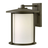 Hinkley Lighting Hudson 1 Light Outdoor Wall Lantern in Oil Rubbed Bronze with Etched Opal Glass 1915OZ-LED