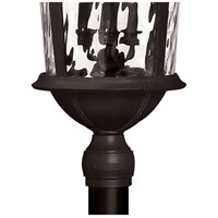 Hinkley 1921BK-LED Windsor LED 35 inch Black Outdoor Post Mount, Clear Water Glass alternative photo thumbnail