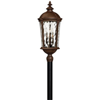 Windsor 2 Light 35 inch River Rock Post Lantern in Clear Water, LED, Clear Water Glass