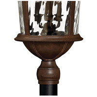 Hinkley 1921RK Windsor 6 Light 35 inch River Rock Outdoor Post Mount in Clear Optic Water, Incandescent, Post Sold Separately alternative photo thumbnail