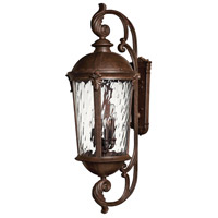 Hinkley 1929RK Windsor 6 Light 42 inch River Rock Outdoor Wall Lantern in Clear Optic Water, Incandescent
