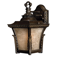 Brynmar 1 Light 12 inch Regency Bronze Outdoor Wall in GU24, Amber Linen Glass