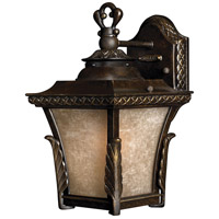 Brynmar 1 Light 12 inch Regency Bronze Outdoor Wall in LED, Amber Linen Glass