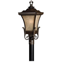 Hinkley 1931RB-LED Brynmar 1 Light 27 inch Regency Bronze Post Lantern in LED, Amber Linen Glass, Post Sold Separately
