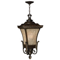 Hinkley 1932RB-GU24 Brynmar 1 Light 12 inch Regency Bronze Outdoor Hanging in GU24, Amber Linen Glass