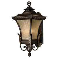 Brynmar 1 Light 20 inch Regency Bronze Outdoor Wall in GU24, Amber Linen Glass