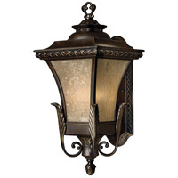 Brynmar 1 Light 20 inch Regency Bronze Outdoor Wall in LED, Amber Linen Glass