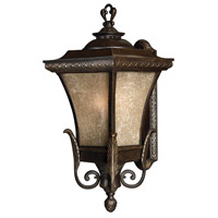 Brynmar 1 Light 28 inch Regency Bronze Outdoor Wall in GU24, Amber Linen Glass