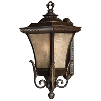 Brynmar 1 Light 28 inch Regency Bronze Outdoor Wall in LED, Amber Linen Glass