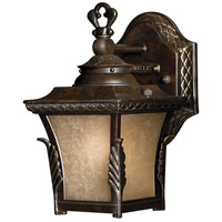 Brynmar 1 Light 9 inch Regency Bronze Outdoor Wall in LED, Amber Linen Glass