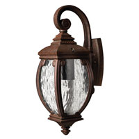 Hinkley Lighting Forum 1 Light Outdoor Wall Lantern in French Bronze 1940FZ-ESDS photo thumbnail