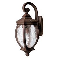 Hinkley 1940FZ Forum 1 Light 21 inch French Bronze Outdoor Wall Lantern