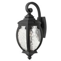 Forum 1 Light 21 inch Museum Black Outdoor Wall, Seedy Water Glass
