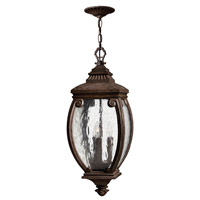 Hinkley 1942FZ Forum 3 Light 10 inch French Bronze Outdoor Hanging Lantern photo thumbnail