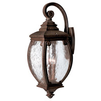 Hinkley 1944FZ Forum 3 Light 28 inch French Bronze Outdoor Wall Lantern
