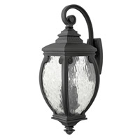Forum 3 Light 28 inch Museum Black Outdoor Wall, Seedy Water Glass