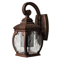 Hinkley Lighting Forum 1 Light Outdoor Wall Lantern in French Bronze 1946FZ-DS photo thumbnail