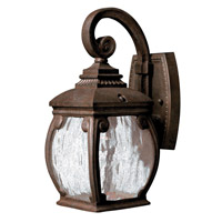 Hinkley 1946FZ-LED Forum 1 Light 13 inch French Bronze Outdoor Wall in LED, Seedy Water Glass