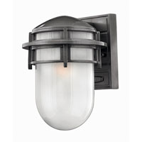 Hinkley Lighting Reef 1 Light Outdoor Wall Lantern in Hematite 1950HE-ES