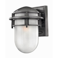 Hinkley Lighting Reef 1 Light Outdoor Wall Lantern in Hematite 1950HE-EST