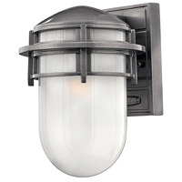 Hinkley 1950HE Reef 1 Light 11 inch Hematite Outdoor Wall Mount in Translucent Sandblasted, Incandescent