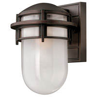 Reef 1 Light 11 inch Victorian Bronze Outdoor Wall Lantern in Translucent Sandblasted, Incandescent