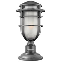 Hinkley 1951HE Reef 1 Light 16 inch Hematite Outdoor Post Mount in Translucent Sandblasted, Incandescent, Post Sold Separately alternative photo thumbnail