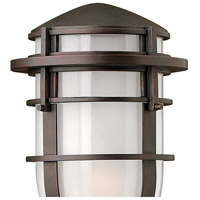 Hinkley 1951VZ Reef 1 Light 16 inch Victorian Bronze Outdoor Post Mount in Translucent Sandblasted, Incandescent, Post Sold Separately alternative photo thumbnail