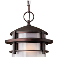 Hinkley 1952VZ Reef 1 Light 9 inch Victorian Bronze Outdoor Hanging Light in Translucent Sandblasted, Incandescent alternative photo thumbnail