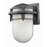 Hinkley Lighting Reef 1 Light Outdoor Wall Lantern in Hematite 1954HE-ES