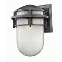 Hinkley Lighting Reef 1 Light Outdoor Wall Lantern in Hematite 1954HE-EST