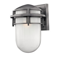 Hinkley Lighting Reef 1 Light GU24 CFL Outdoor Wall in Hematite 1954HE-GU24
