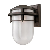 Reef LED 13 inch Victorian Bronze Outdoor Wall Mount in Inside Etched, Inside Etched Glass