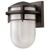 Hinkley 1954VZ Reef 1 Light 13 inch Victorian Bronze Outdoor Wall Mount in Translucent Sandblasted, Incandescent
