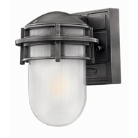 Hinkley Lighting Reef 1 Light Outdoor Wall Lantern in Hematite 1956HE-EST photo thumbnail