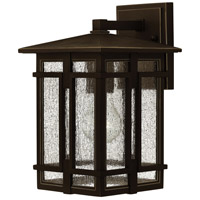 Tucker LED 12 inch Oil Rubbed Bronze Outdoor Wall Mount, Clear Seedy Glass